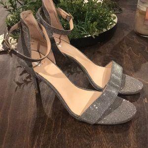 BP silver shinny Heels